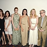 Penelope Cruz, Greta Gerwig, Alison Pill, Alessandra Mastronardi, Simona Caparrini, and Woody Allen posed together for the premiere of To Rome With Love in LA.