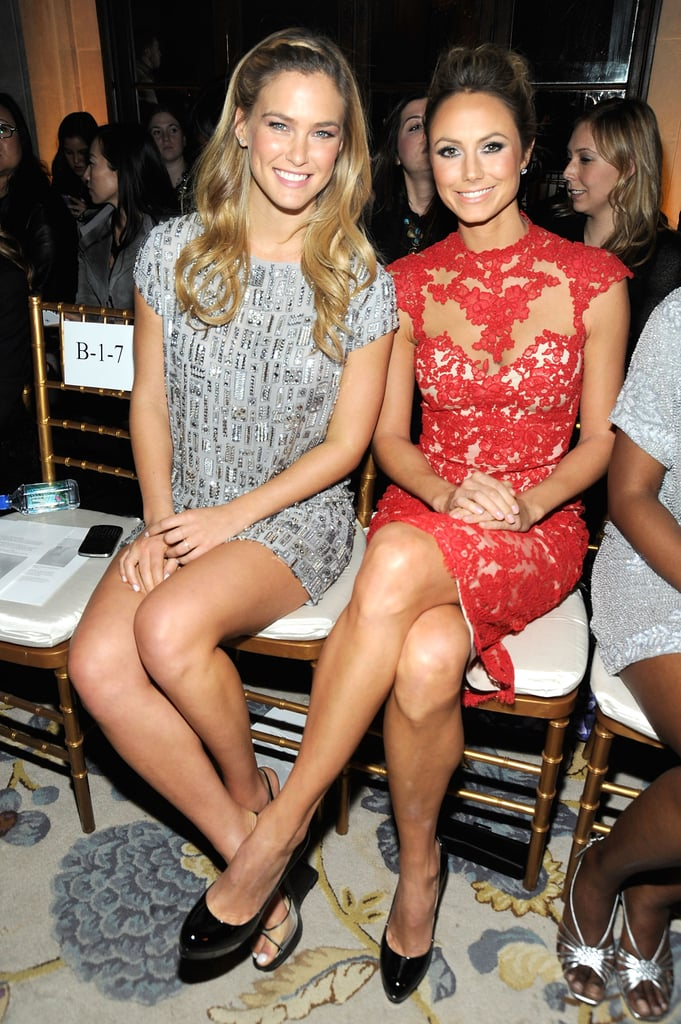 Bar Refaeli and Stacy Keibler were side by side for the February 2012 Marchesa NYC presentation.