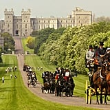 The Long Walk in front of Windsor Castle.