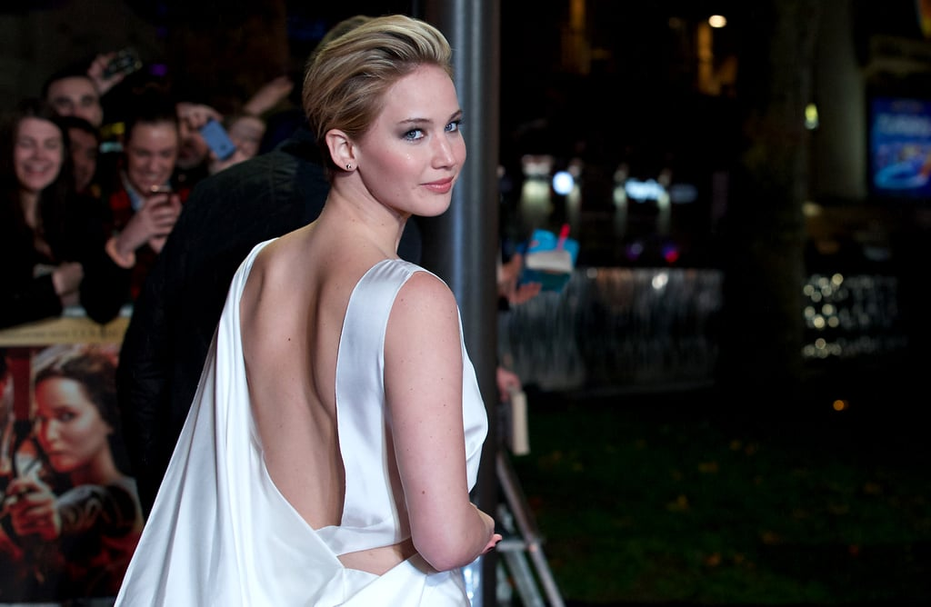 Jennifer Lawrence attended the premiere of The Hunger Games: Catching Fire in London.