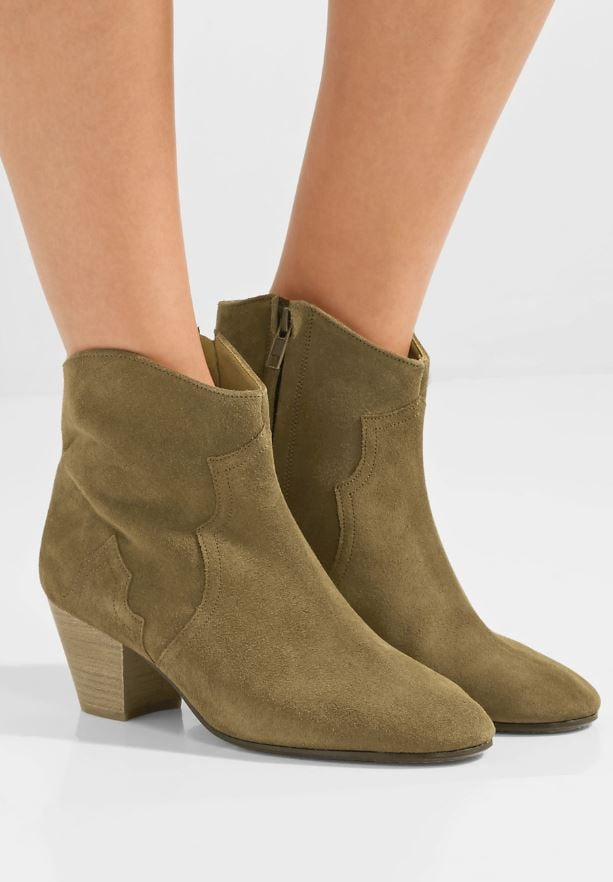 Isabelle Marant Dicker Suede Ankle Boots ($543.22)