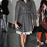 Alexa Chung attended the Christopher Kane show.