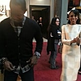 Jamie Foxx goofed around with Kerry Washington while promoting Django Unchained together. Source: Jamie Foxx on WhoSay