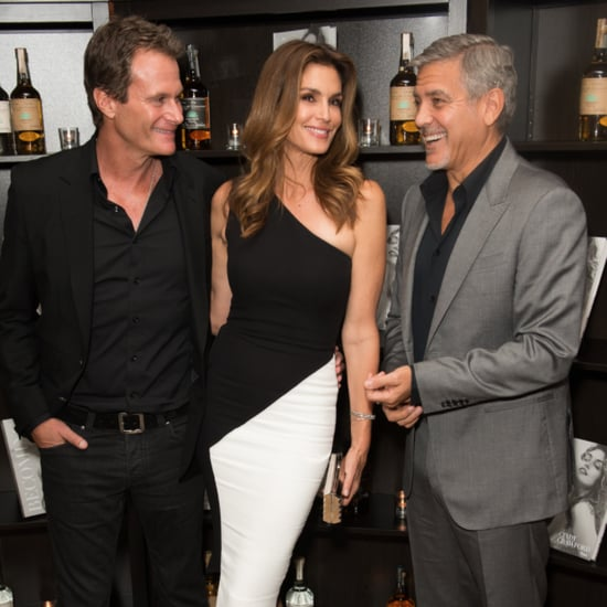 George Clooney Out With Cindy Crawford and Rande Gerber 2015