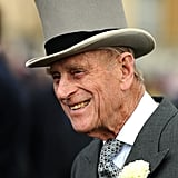 Prince Philip looked handsome in a top hat at Buckingham Palace.