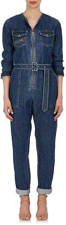 93cb43f1d4f Kourtney Kardashian Wearing a Denim Jumpsuit