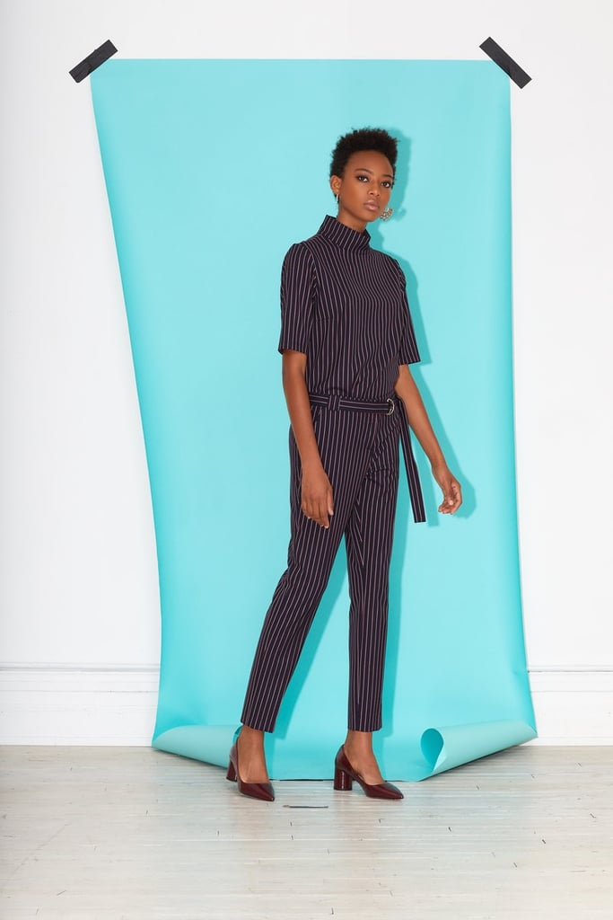 Argent Pinstripe Trousers