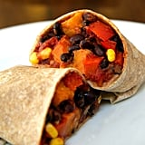 Entrée: Roasted Sweet Potato and Black Bean Burrito