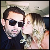 On the way to the Emmys, Ryan hashtagged this Instagram with #mostbeautifulgirl.  Source: Instagram user Ryan Sweeting