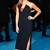 Jennifer Aniston was sophisticated and sexy in Antonio Berardi.
