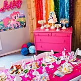 When you are 9, there is nothing like having a beautiful table set just for you to enjoy.  I wanted Ally's little friends to have a fabulous party table to sit where they could snack on treats, craft and have their (hilarious) little 9 year old conversations.