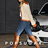 Miley Cyrus's Sexy Leather Riding Boots Are Perfect For Fall