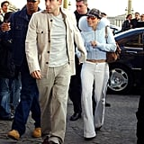 J Lo Wearing Low-Slung White Denim in the Early 2000s