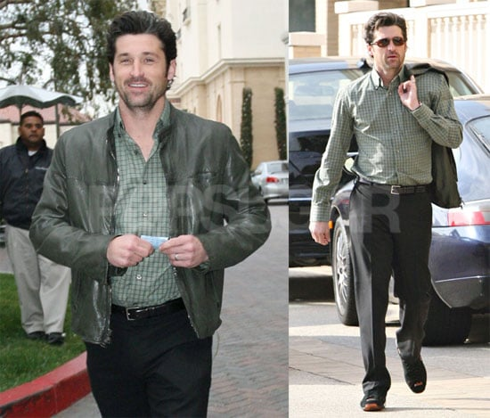 Photos of Patrick Dempsey Shopping at Barneys and Driving His Jaguar in Beverly Hills
