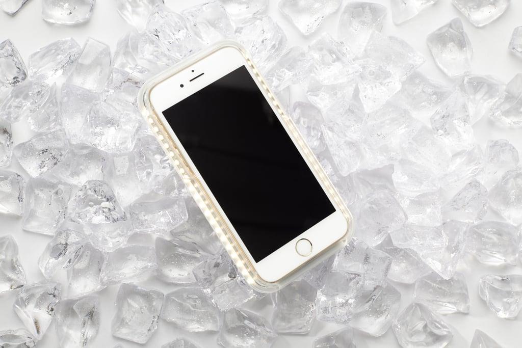 Front-lit phone case