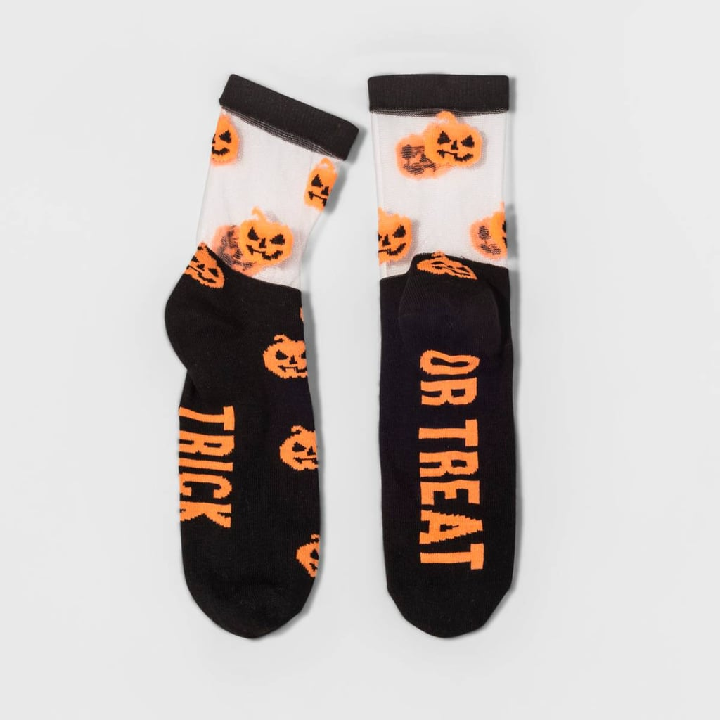 Trick or Treat Pumpkin Halloween Crew Socks