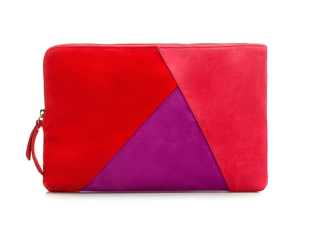 If you're going to go retro, try a pretty patchwork design à la the '70s greatest fashion hits. The best part about this clutch? It doubles as a chain shoulder bag.