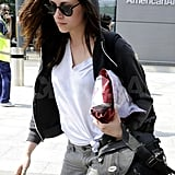 Kristen Stewart Touches Down in London Solo