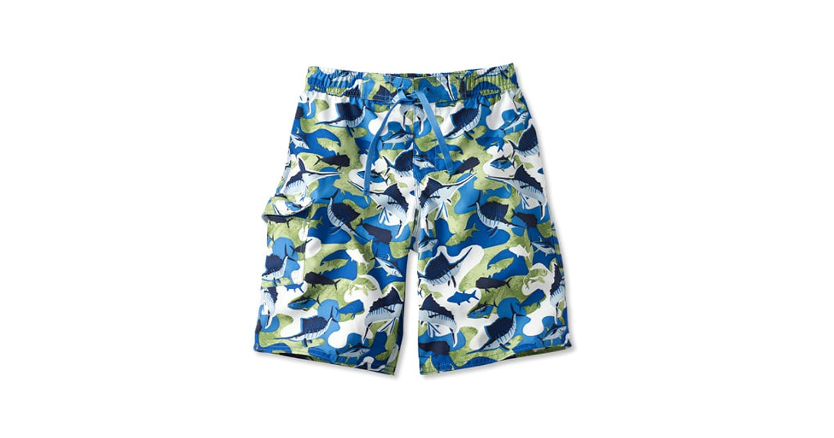 37d20dfc6a L.L. Bean Caribbean Blue Fish Swim Shorts | Boys Swim Trunks With Sea  Animals | POPSUGAR Family Photo 6
