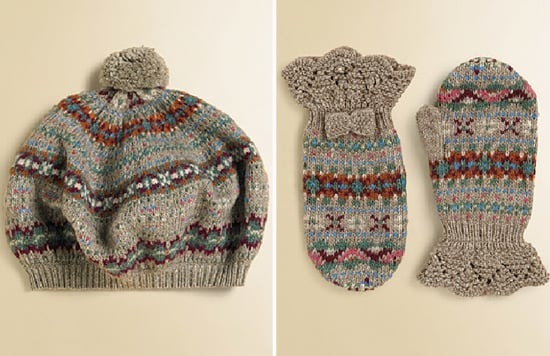 Ralph Lauren Fair Isle Beret and Mittens | Hat and Mitten Sets For ...