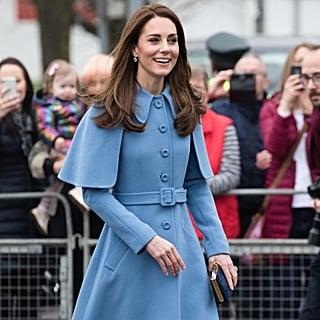 Kate Middleton Wearing Blue Coats