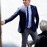Zac Efron rocked a pair of flip-flops Monday in LA while shooting scenes for his movie Townies.