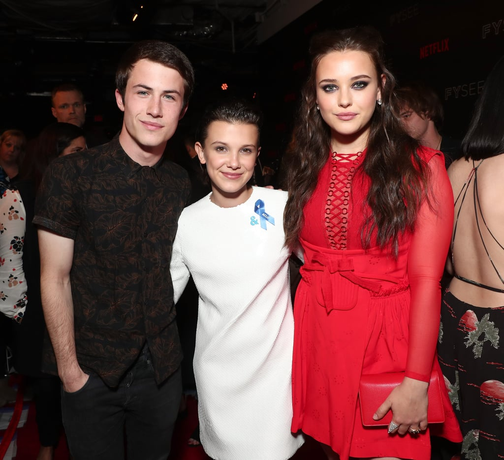 Dylan Minnette, Millie Bobby Brown, and Katherine Langford