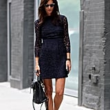 A dressy LBD suddenly becomes daytime-appropriate.