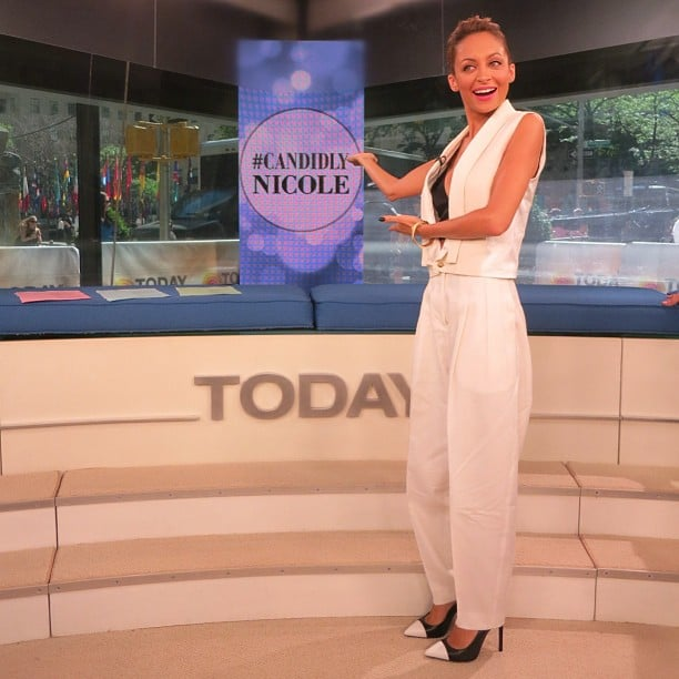 Nicole Richie did her best Vanna White impression during her stop at the Today show. Source: Instagram user nicolerichie