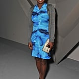 Viola Davis opted for pretty blue hues at Vera Wang.