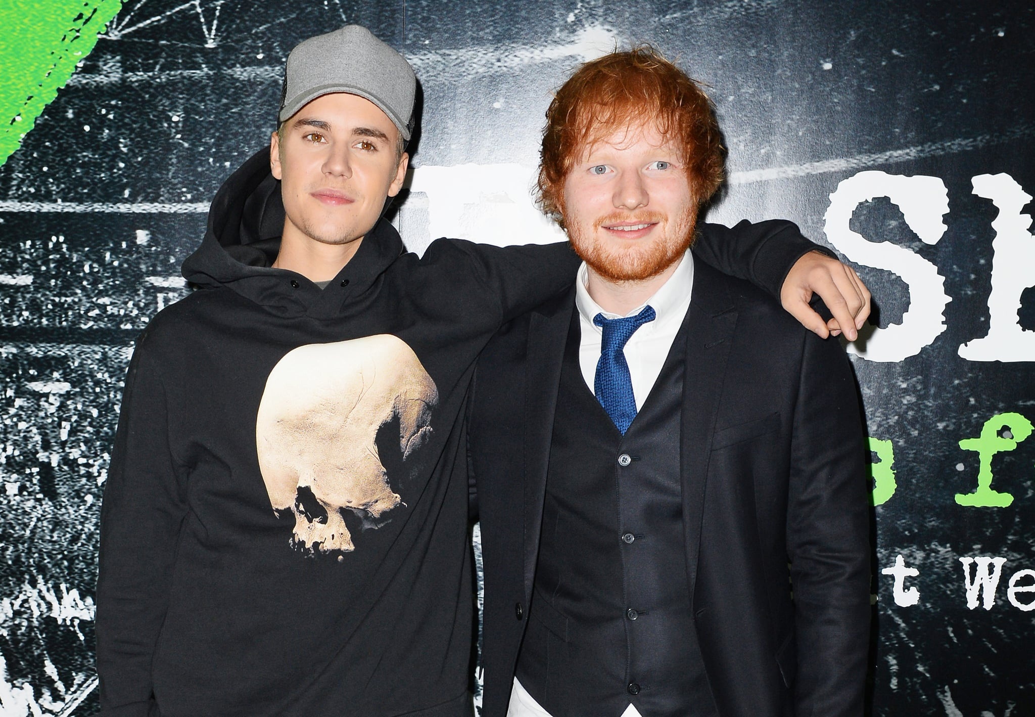 ed sheeran hit justin bieber a golf club popsugar celebrity share this link