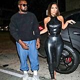 Kim Kardashian's Vex Leather Leggings in LA