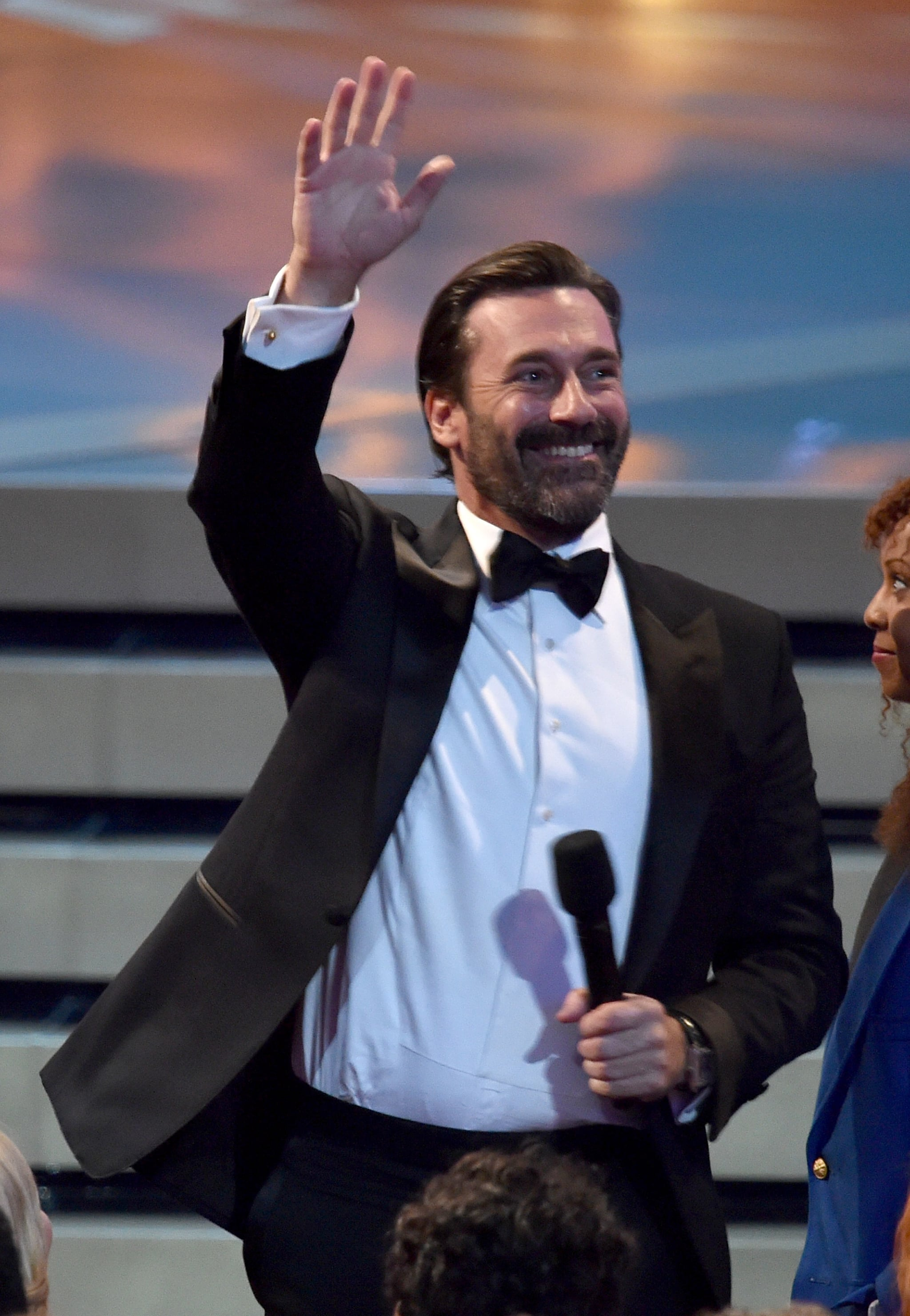Jon Hamm waved to the audience.