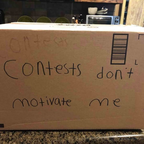 Boy Makes Contest Don't Motivate Me Valentines Box