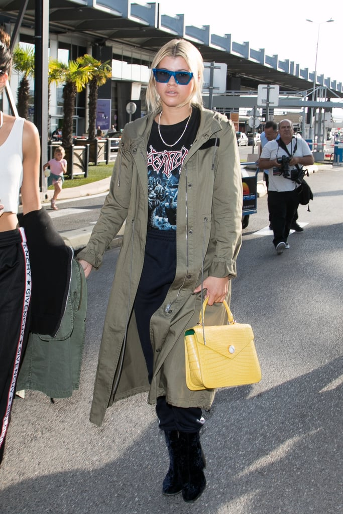 Sofia Richie Carrying an Ethan K Alla Crocodile Satchel