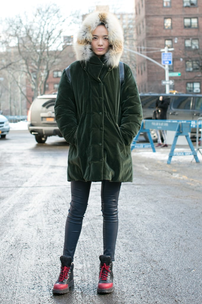 When outerwear doubles as a great accessory.
