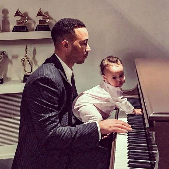 John Legend Playing Piano With Luna Photo February 2017
