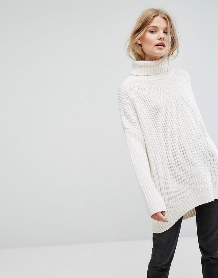 7c41f8f1f345 Weekday Turtleneck Fluffy Knit Sweater   Best Sweaters   POPSUGAR ...