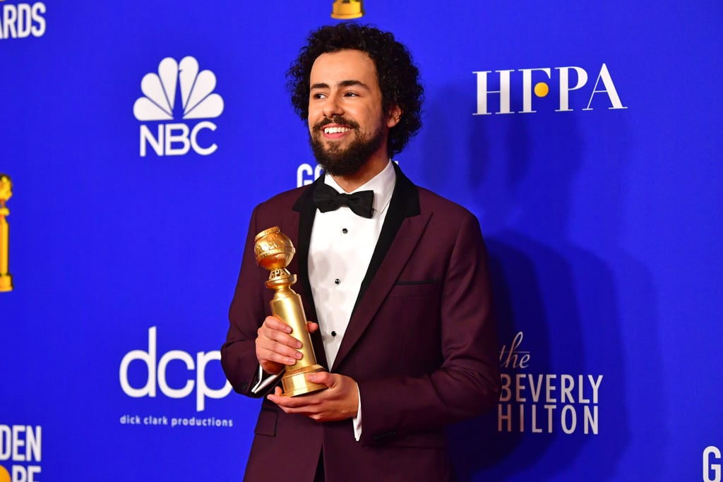 "While the 2020 Golden Globes suffered from some cringe-worthy ""jokes"" during its opening, the first award of the night more than made up for it. Ramy Youssef scored his first-ever Golden Globe for best actor in a TV musical or comedy for his breakout Hulu series, Ramy.  ""Look, I know you guys haven't seen my show,"" Youssef joked as he accepted the award, laughing along with the crowd. ""We made a very specific show about an Arab-Muslim family living in New Jersey and this means a lot to be recognized on this level. So I want to thank everyone who was involved."" Youssef previously appeared in Mr. Robot, where he played overzealous security analyst Samar Swailem, and now leads the critically acclaimed series as the titular Ramy. The show follows the everyday world of an average Muslim-American family navigating life in their politically divided New Jersey neighborhood, and addresses real-world issues with Youssef's signature sense of humor. The show was renewed for a second season a few weeks after its premiere, so fans can look forward to more of Youssef sometime this Summer! Watch Youssef joke about his mom rooting for Michael Douglas over him, as well as more photos of his night, ahead.      Related:                                                                                                           Presenting the 2020 Golden Globe Awards Winners!"
