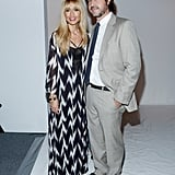 Rachel Zoe was joined by her husband Rodger Berman backstage before her runway show on Wednesday.