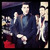 Zachary Quinto arched his famous eyebrows on the red carpet in Sydney. Source: Instagram user popsugarauceleb