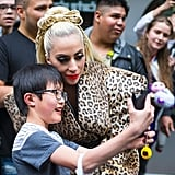 Lady Gaga Wears Braided Hair Bow May 2018