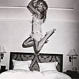 Heidi Klum jumped for joy.  Source: Twitter user heidiklum