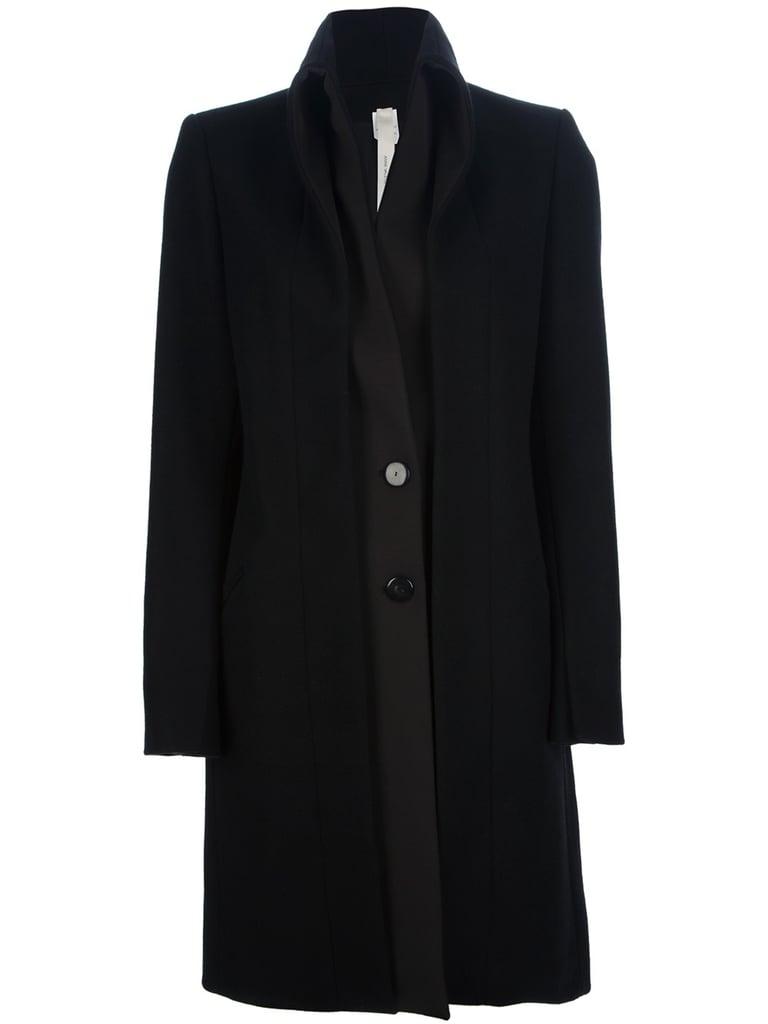 Anne Valerie Hash black shawl collar coat ($387, originally $968)