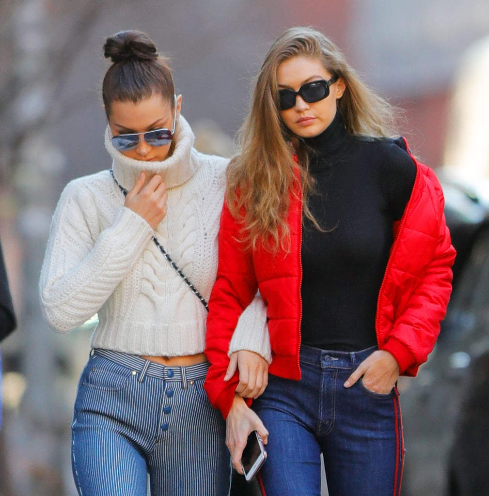 Gigi and Bella Hadid Wearing the Same Clothes