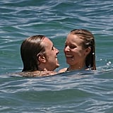 Kristen Bell took a dip in the Pacific Ocean while on a June 2009 Hawaiian vacation with Dax Shepard.