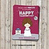 Personalized Princess Leia Valentines