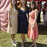 Sarah and her daughters smiled for the camera at a polo match in 2005.
