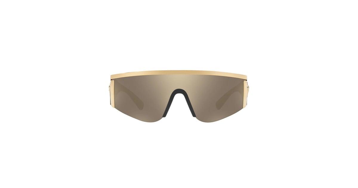 eed807ab64 Versace Eyewear Medusa Logo Visor Sunglasses