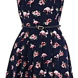 Oasis Flamingo-Print Dress